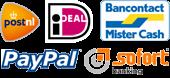 Gemakkelijk, veilig en snel: iDeal - PostNL - PayPal - MisterCash - Sofort