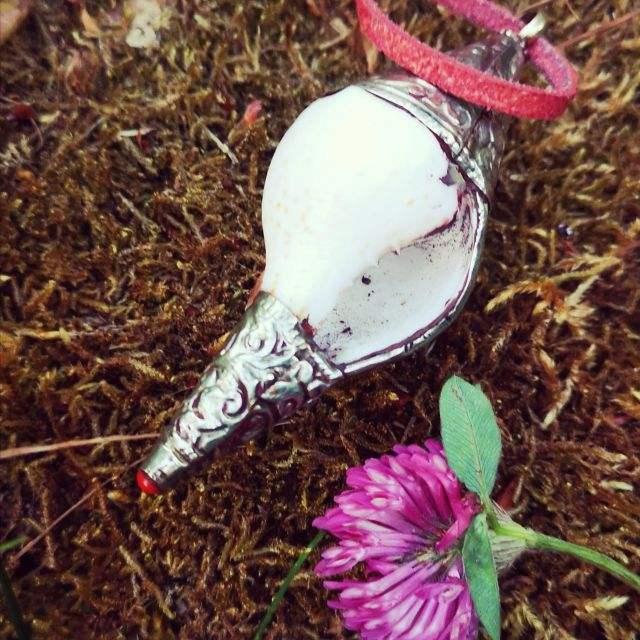 rituele schelp - ketting