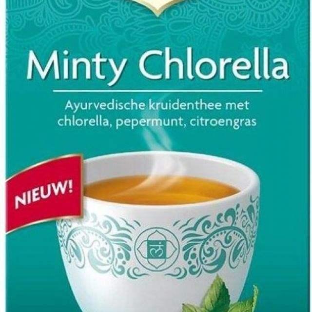 minty chlorella - yogi thee