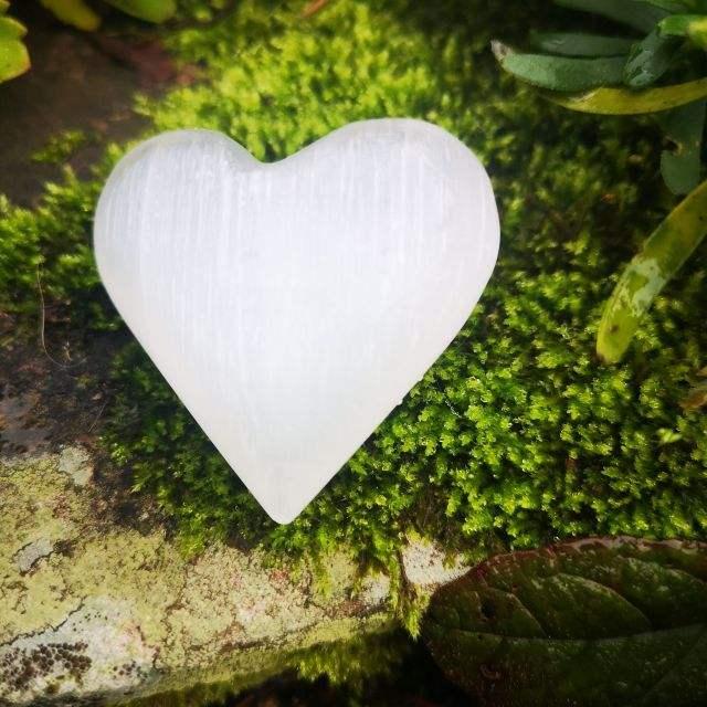seleniet - edelsteen hart